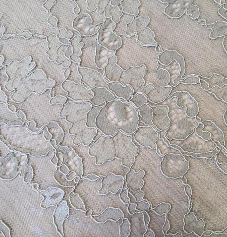 Beige lace fabric. Photo 2
