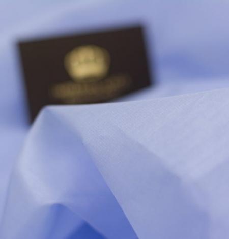 Blue with grey shade silk organza fabric . Photo 7