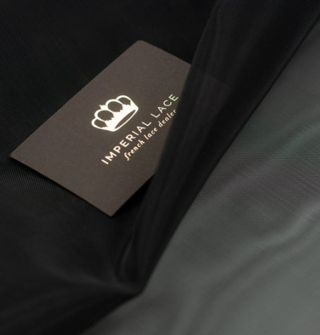 Black crinoline fabric . Photo 3