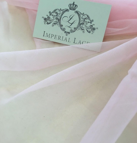 Baby pink tulle fabric. Photo 6