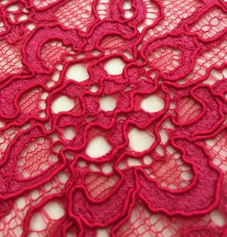 Pink lace fabric. Photo 2