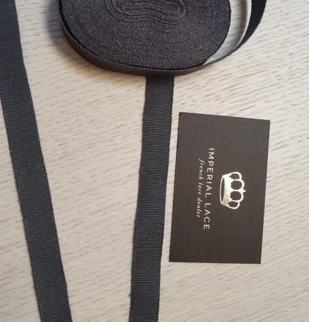 Dark grey grosgrain viscose ribbon . Photo 6
