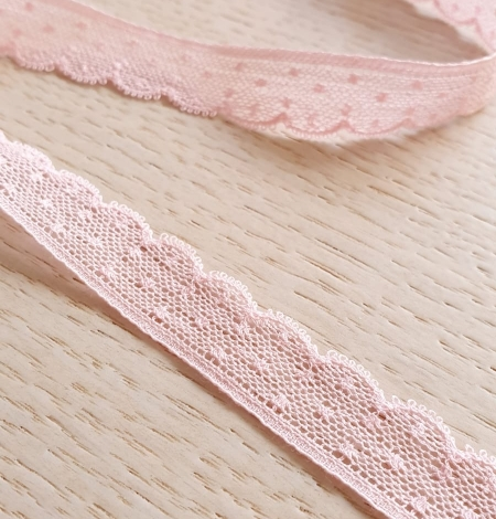 Baby pink chantilly lace trimming. Photo 1