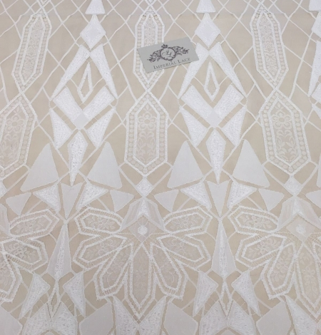 White Lace Fabric, French Lace. Photo 4