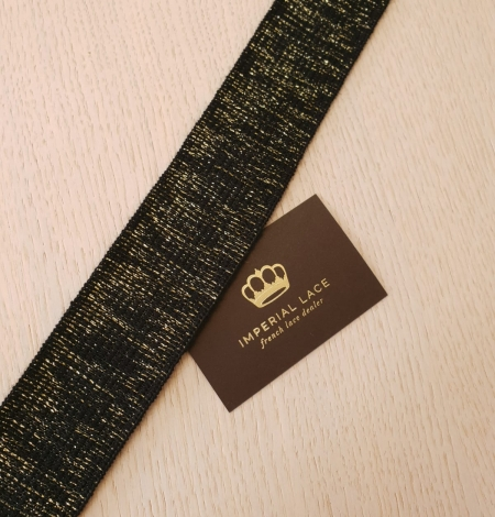 Black with gold rubber ribbon application. Photo 4