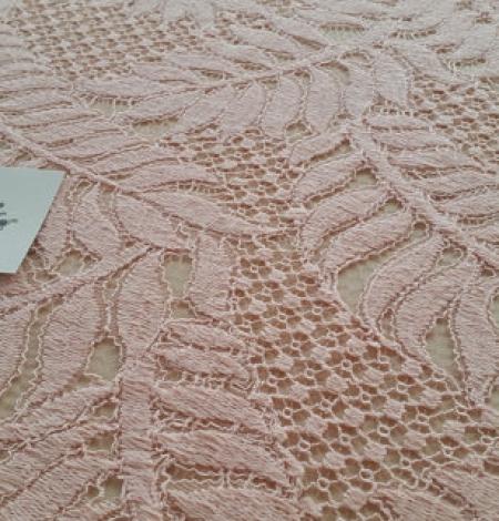 Pink organic pattern guipure lace fabric . Photo 2