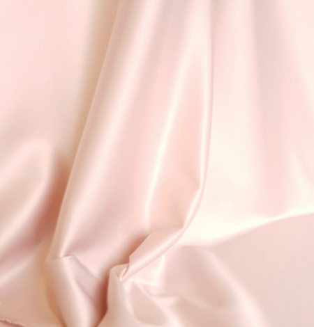 Powder pink satin fabric. Photo 9
