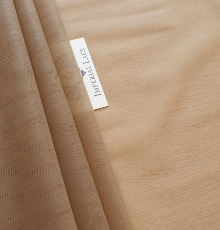 Grey brown tulle fabric. Photo 1
