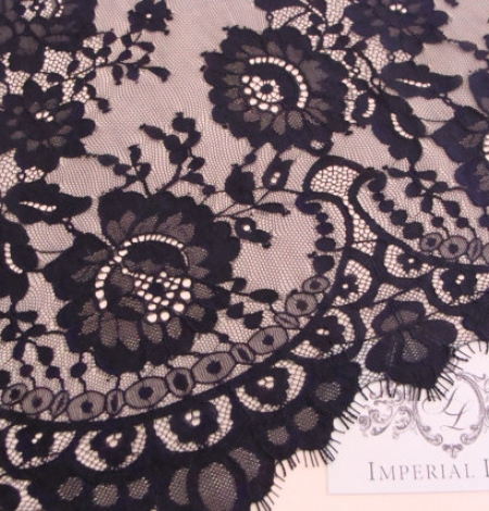 Black Lace fabric. Photo 1