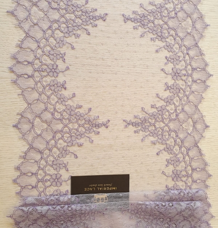 Lilac chantilly cotton lace trimming by Jean Bracq. Photo 5