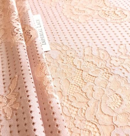 Powder color lace fabric . Photo 3