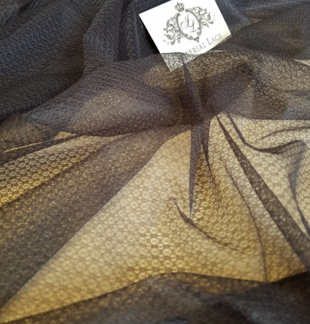 Dark grey tulle fabric. Photo 8