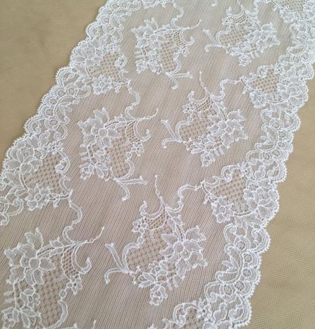 White elastic lingerie lace trim. Photo 4