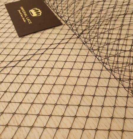 Black hat net tulle fabric. Photo 3