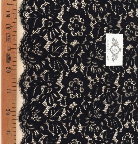 Black Lace fabric - French style. Photo 3