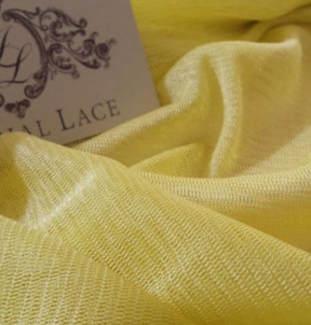 Yellow silk tulle fabric. Photo 1