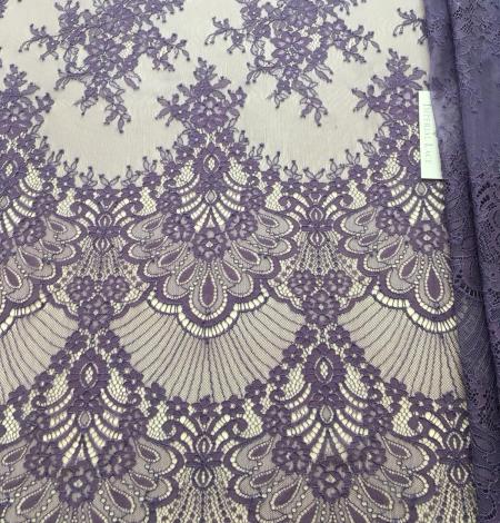 Lilac lace fabric. Photo 4