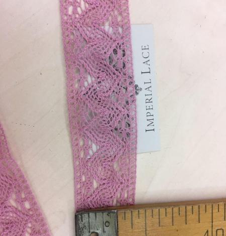 Old rose cotton lace trim. Photo 3