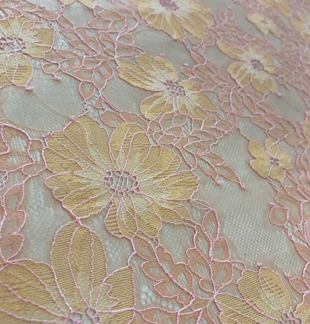 Orange lace fabric. Photo 6