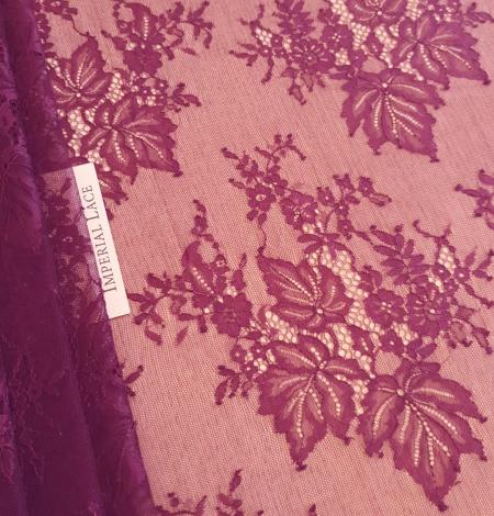 Lilac lace fabric. Photo 7