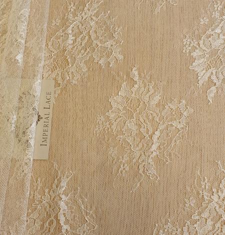 Ecru lace fabric. Photo 2