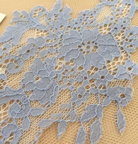 Blue guipure lace applique . Photo 3