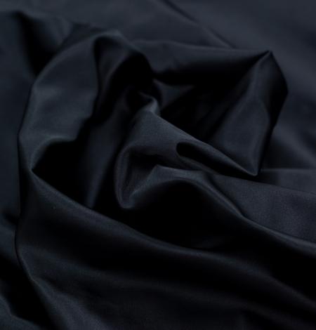 Black silk duchess fabric. Photo 7