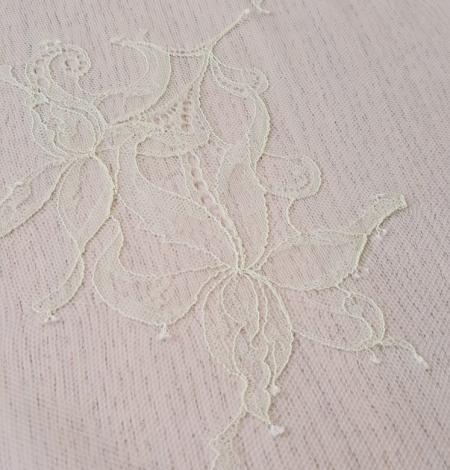 Light yellow lace fabric. Photo 8