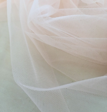 Orange tulle fabric. Photo 1