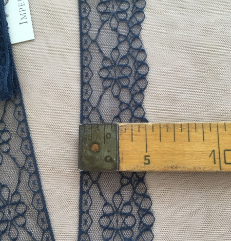 Dark Blue Lace Trim. Photo 4