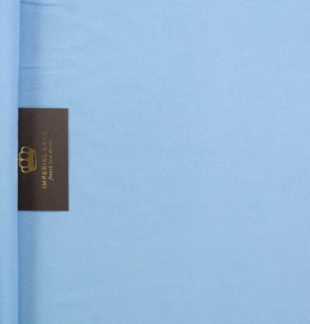Blue silk with elastane crepe fabric. Photo 5