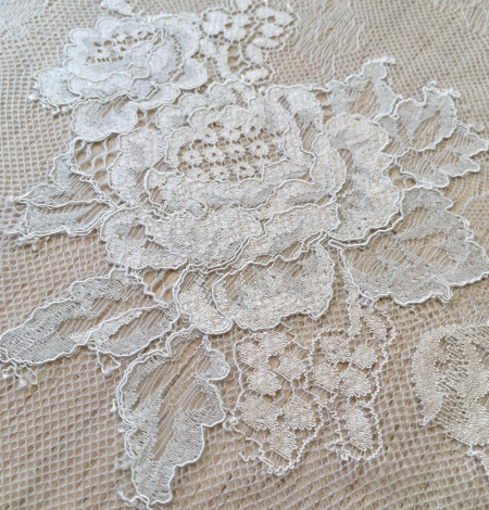 Light blue lace fabric. Photo 7