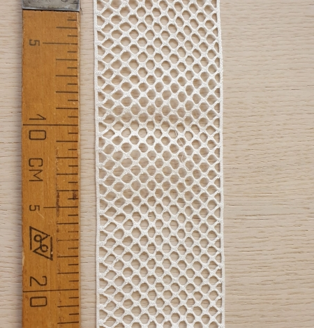 Ivory cotton mesh lace trimming. Photo 6