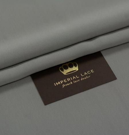Dark gray silk crepe fabric. Photo 1