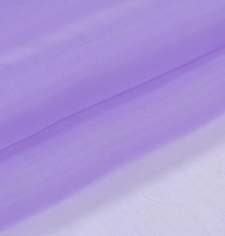 Lilac silk organza fabric. Photo 6