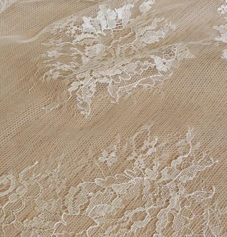 Ecru lace fabric. Photo 8