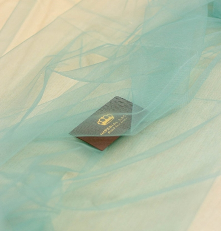 Laguna sea green soft tulle fabric from Italy. Photo 5