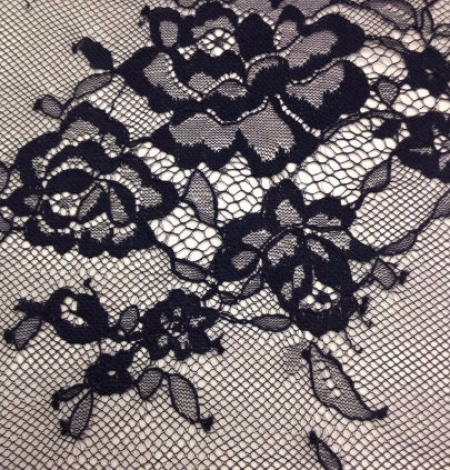 Lace fabric black color. Photo 3