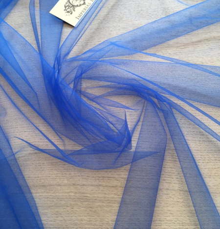 Blue tulle fabric. Photo 5