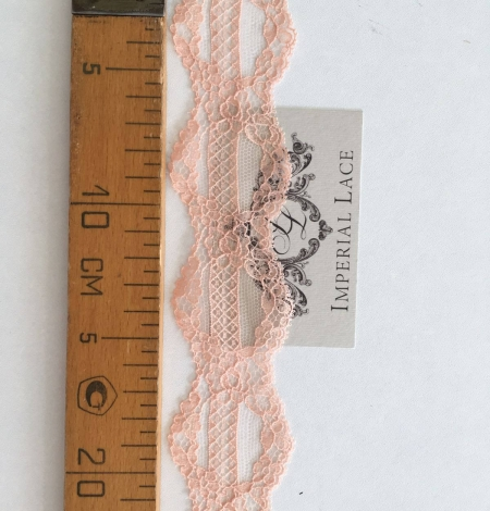 Nude Pink Chantilly lace trim. Photo 4