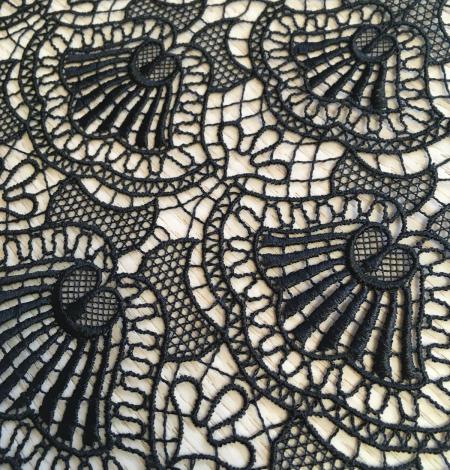 Black macrame lace trimming. Photo 2