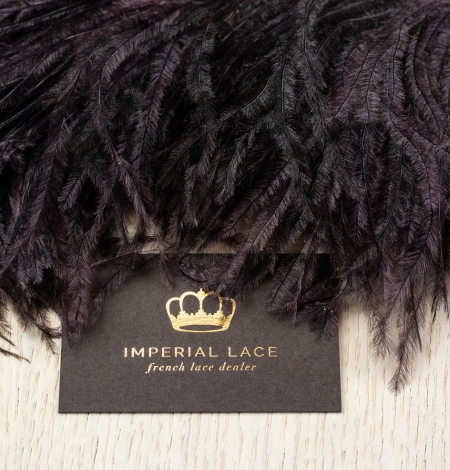 Eggplant lilac soft natural ostrich feather. Photo 6