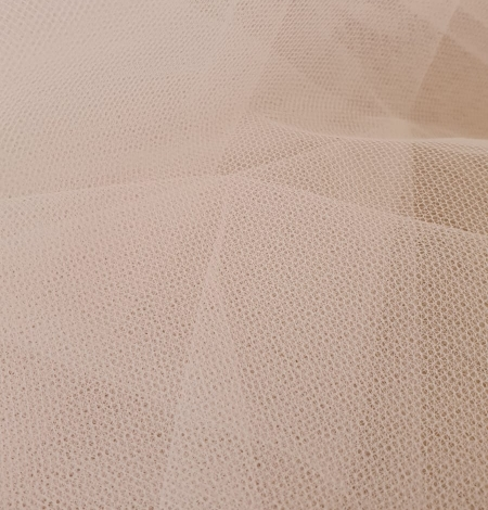 Light pink middle hard tulle fabric. Photo 8
