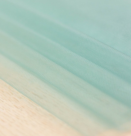 Laguna sea green soft tulle fabric from Italy. Photo 10