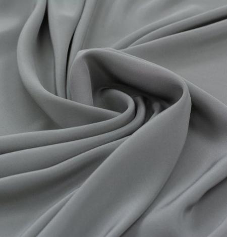 Grey greenish Mulberry silk crepe fabric. Photo 3