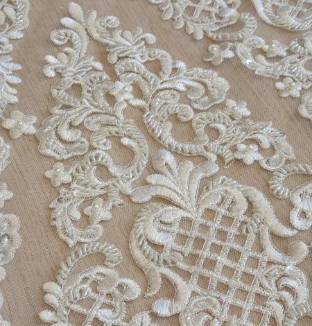 Luxury bridal beaded lace fabric. Photo 9