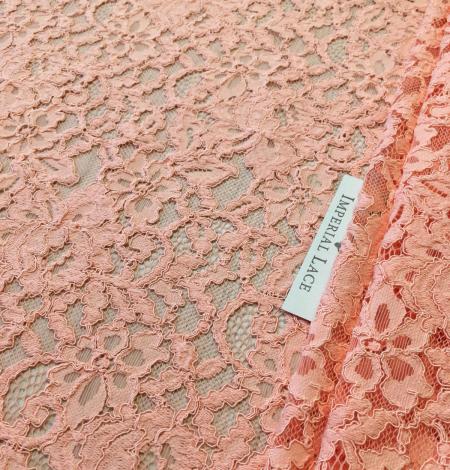 Peach lace fabric. Photo 7