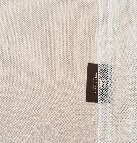 Ivory cotton chantilly lace fabric by Jean Bracq. Photo 7