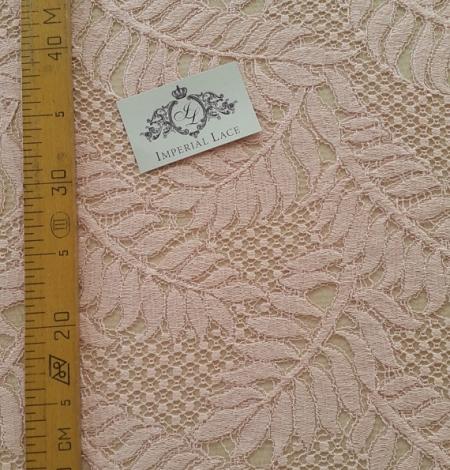 Pink organic pattern guipure lace fabric . Photo 5