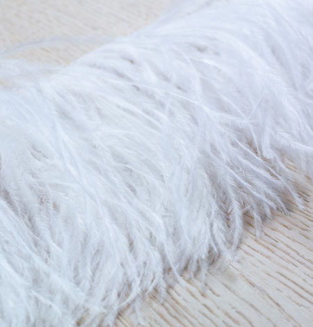 Off white soft natural ostrich feather. Photo 4